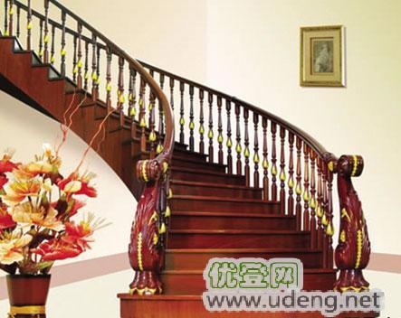 木楼梯,木扶手,楼梯配件,踏步板,钢木立柱