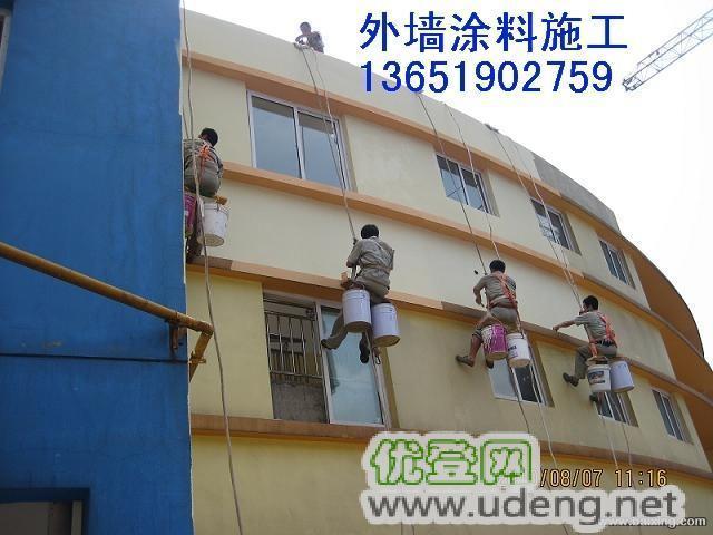 上海松江外墙涂料粉刷 无架吊绳高空施工 外墙吊绳施工